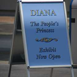 DIANA - The People's Princess signage and exterior