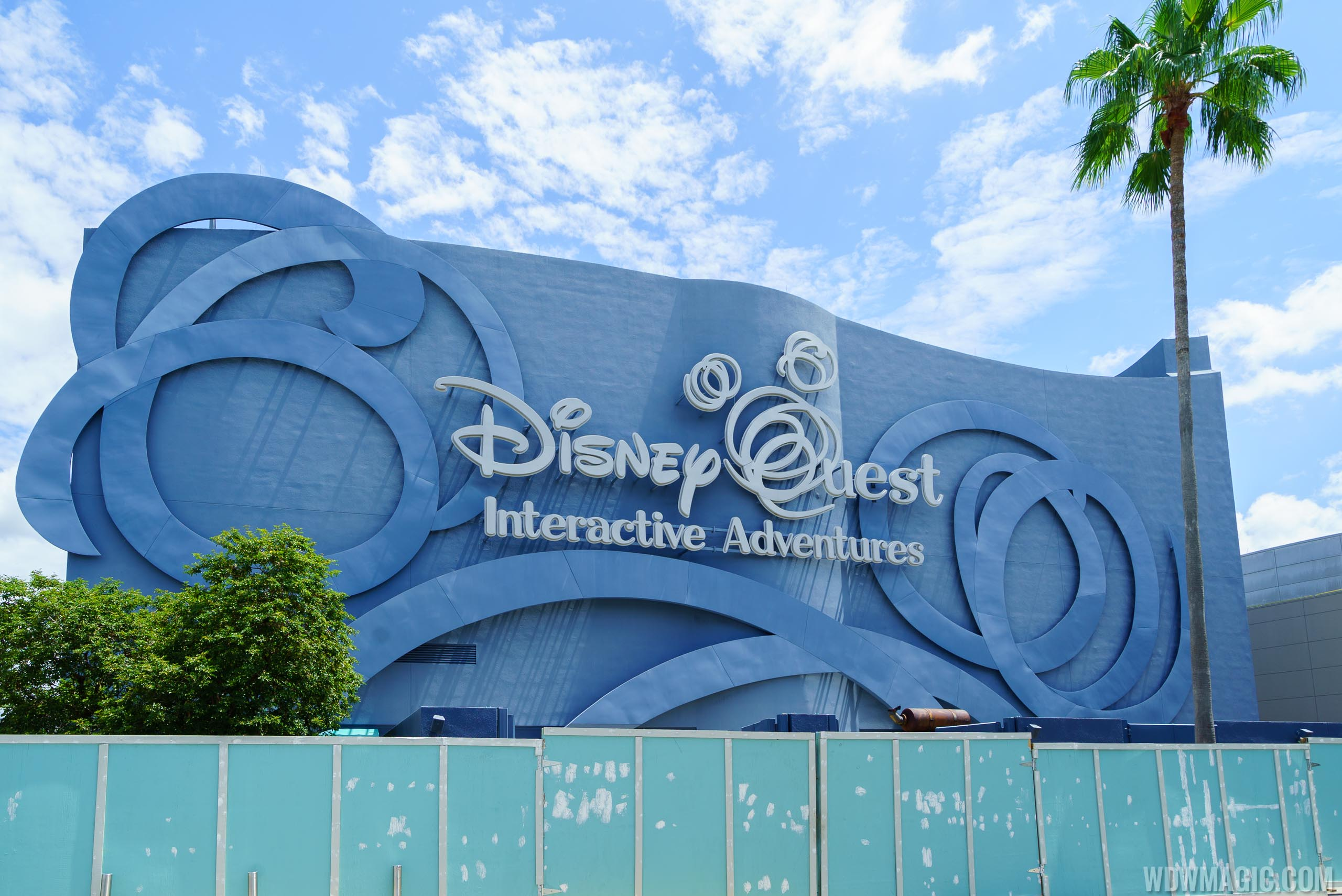 Walls around closed Disney Quest