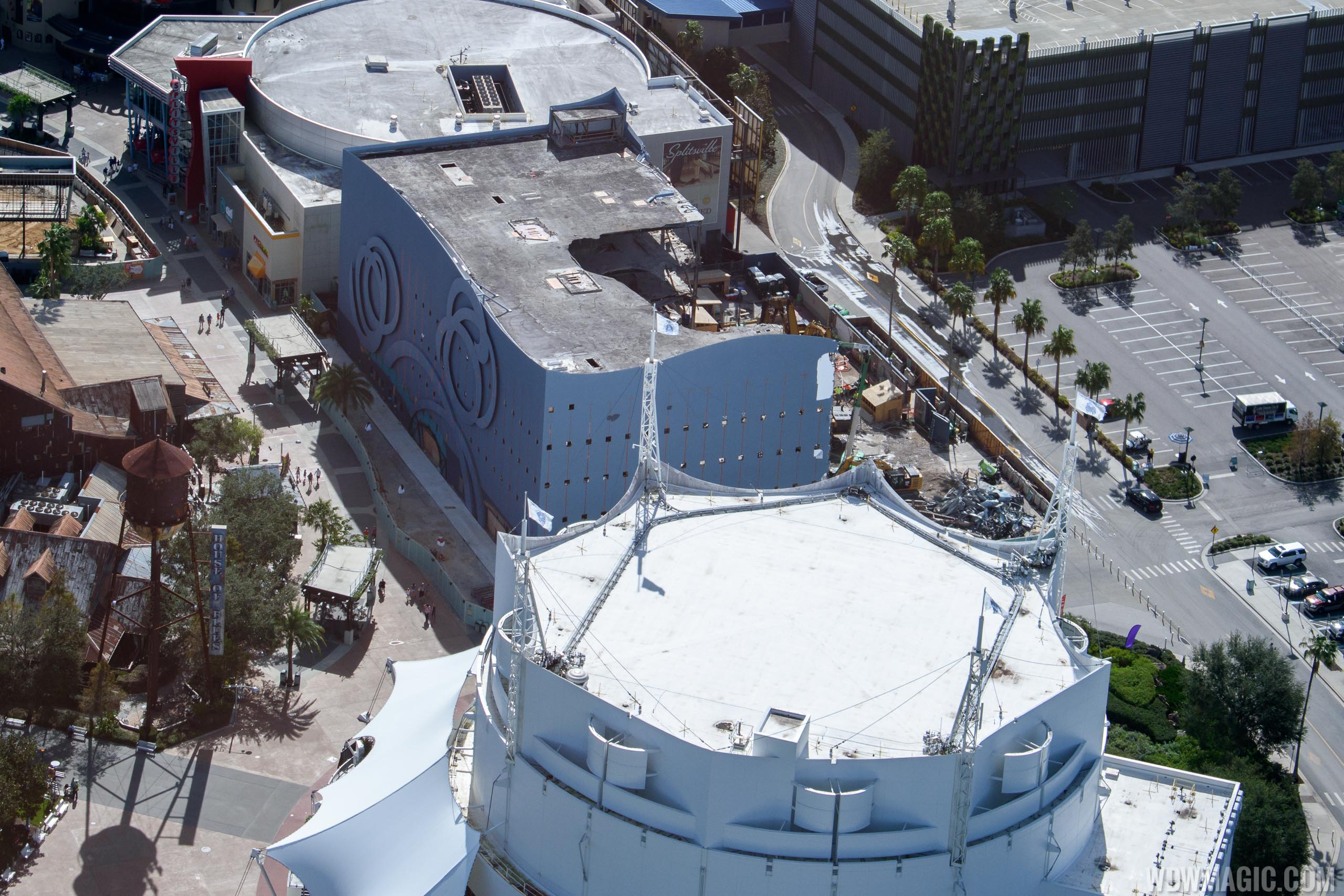 Disney Quest demolition from the air