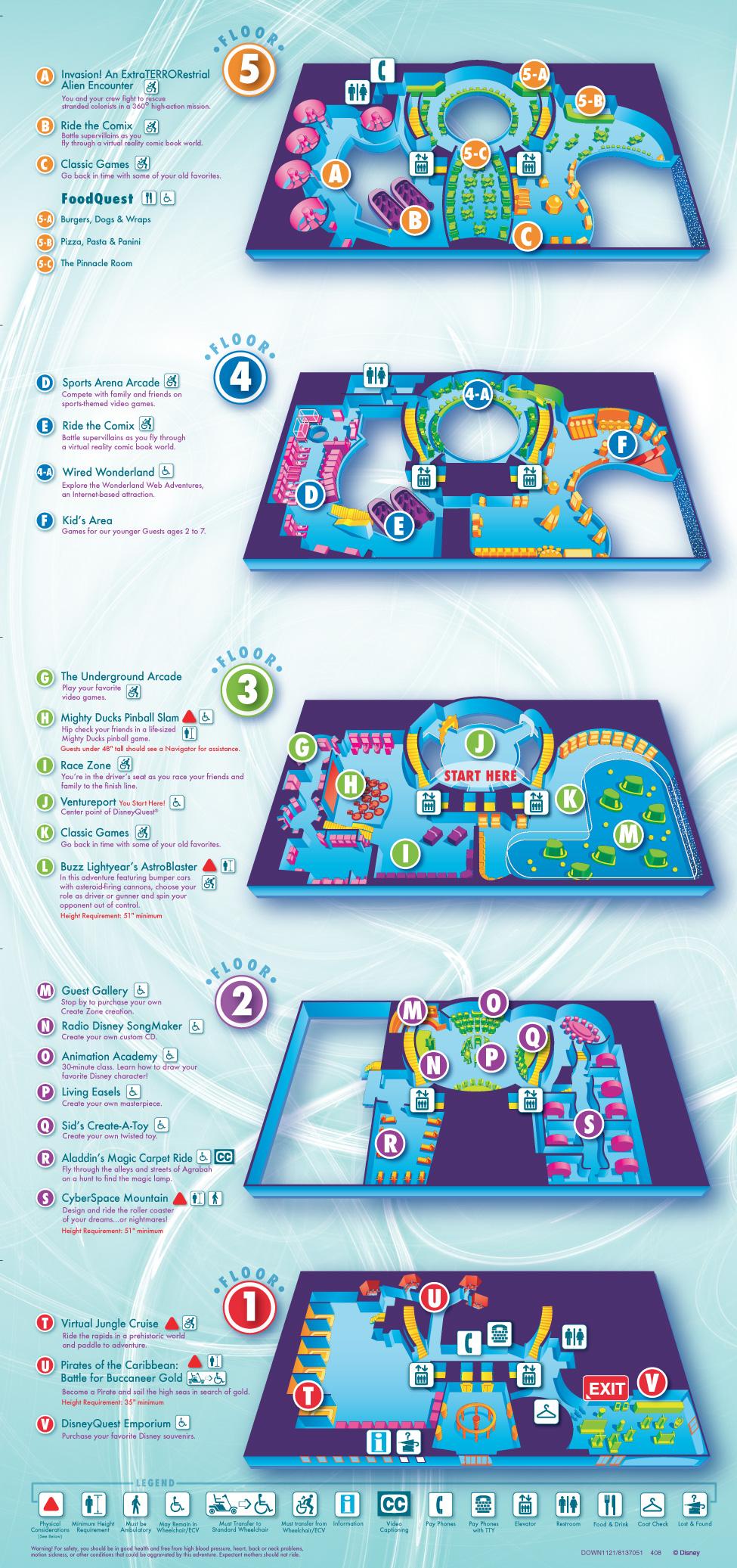 Disney Quest map - Photo 1 of 1
