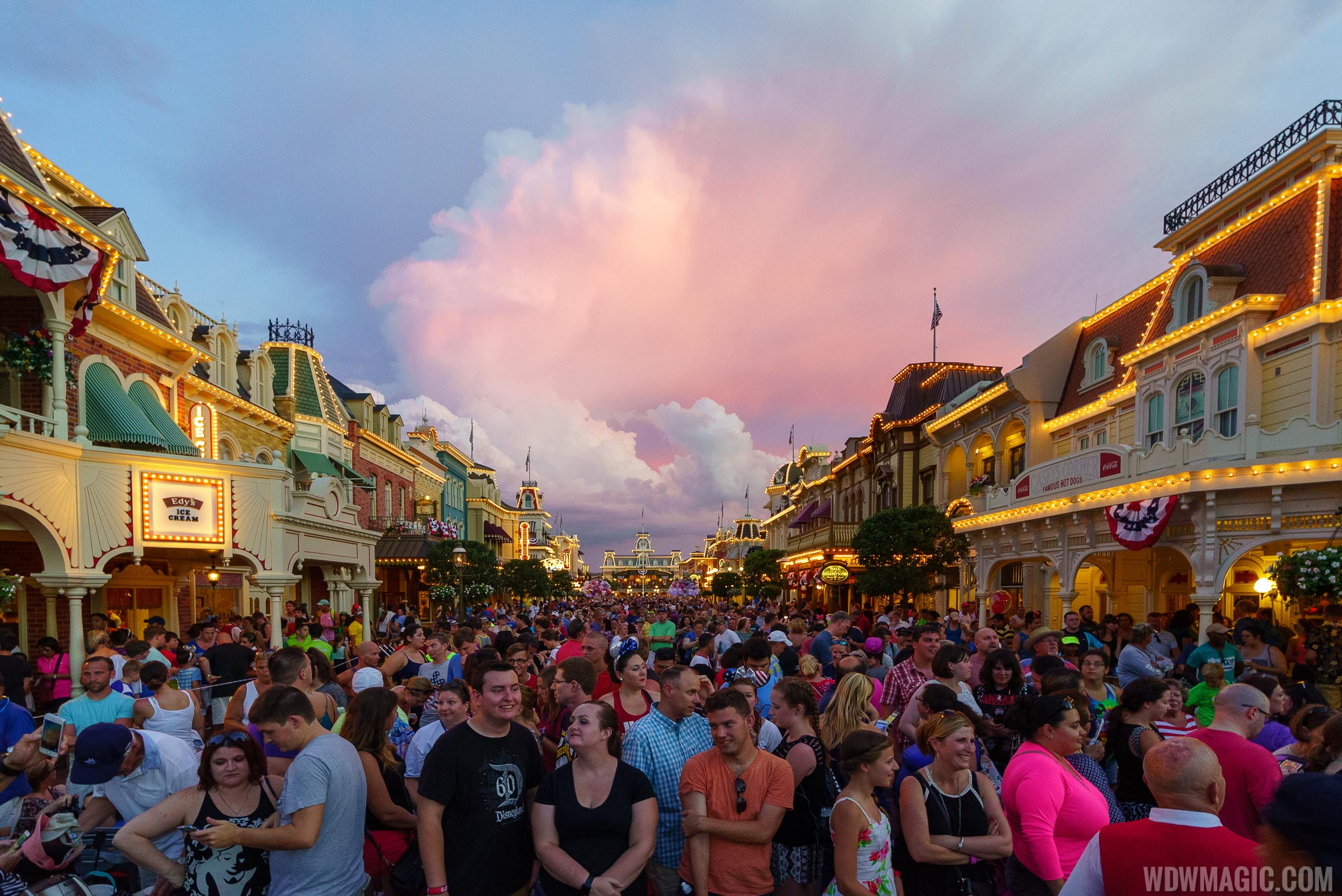 Crowds at the Magic Kingdom