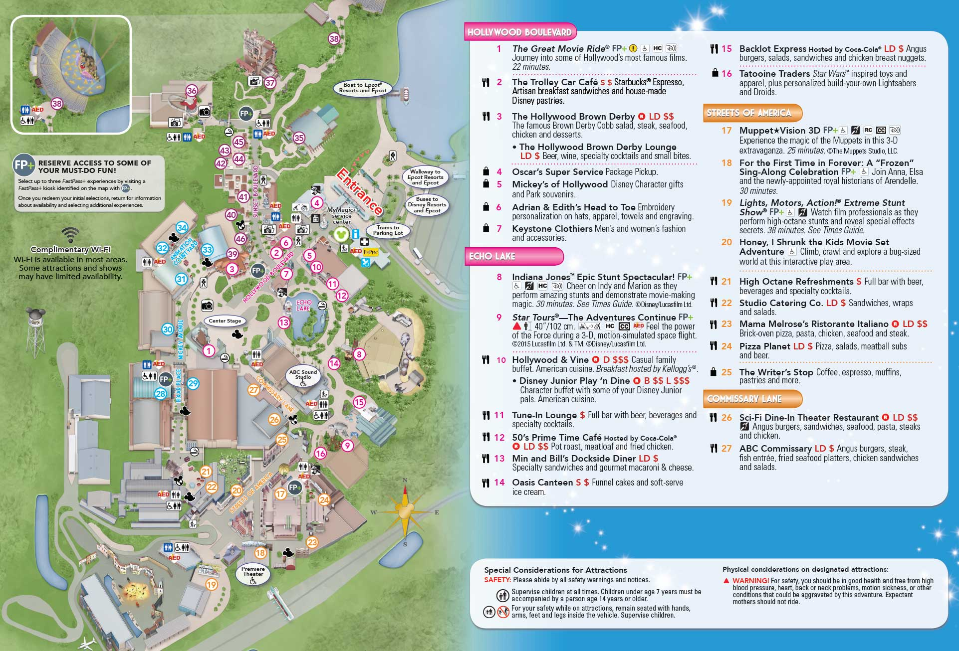 PHOTO - New Disney\'s Hollywood Studios guide map updated with Center ...