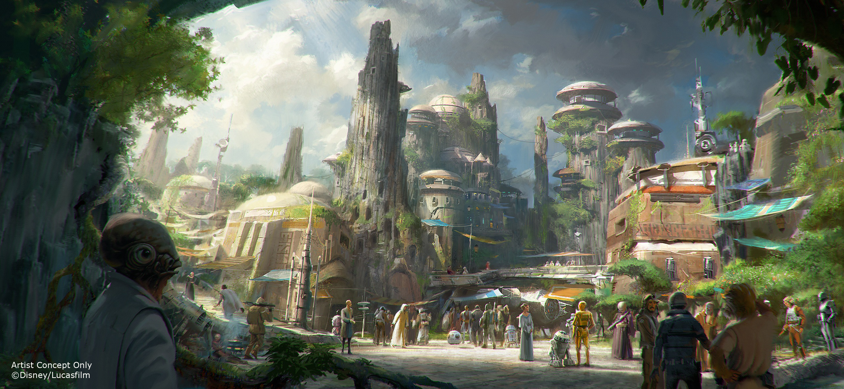 Star Wars themed land concept art