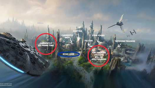 How Star Wars Land and Toy Story Land may fit within Disney's Hollywood Studios