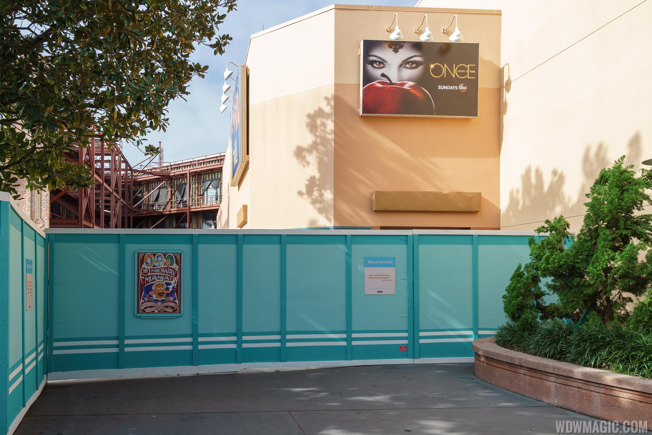 Backlot cleared ahead of Star Wars and Toy Story Lands