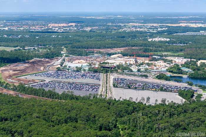 Aerial views of new entrance and roadways at Disney's Hollywood Studios