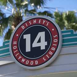 Disney's Hollywood studios signage update in parking lots