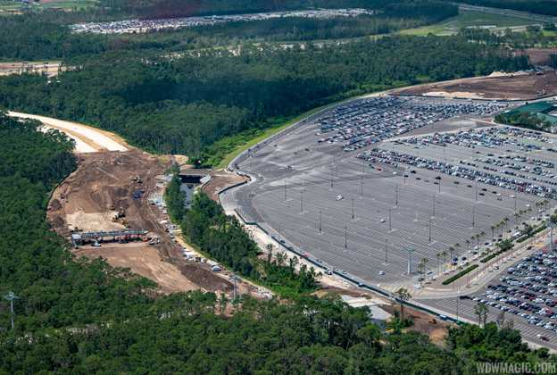 New Parking Plaza under construction at Disney's Hollywood Studios