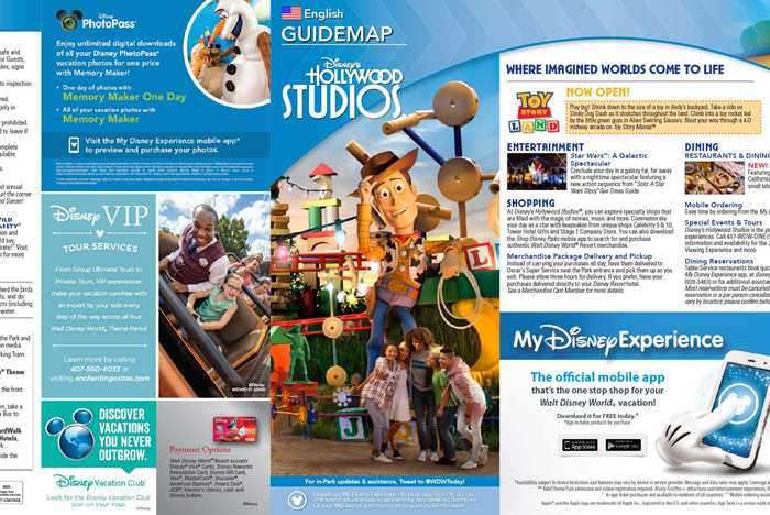 New Guide Map for Disney's Hollywood Studios with Toy Story Land