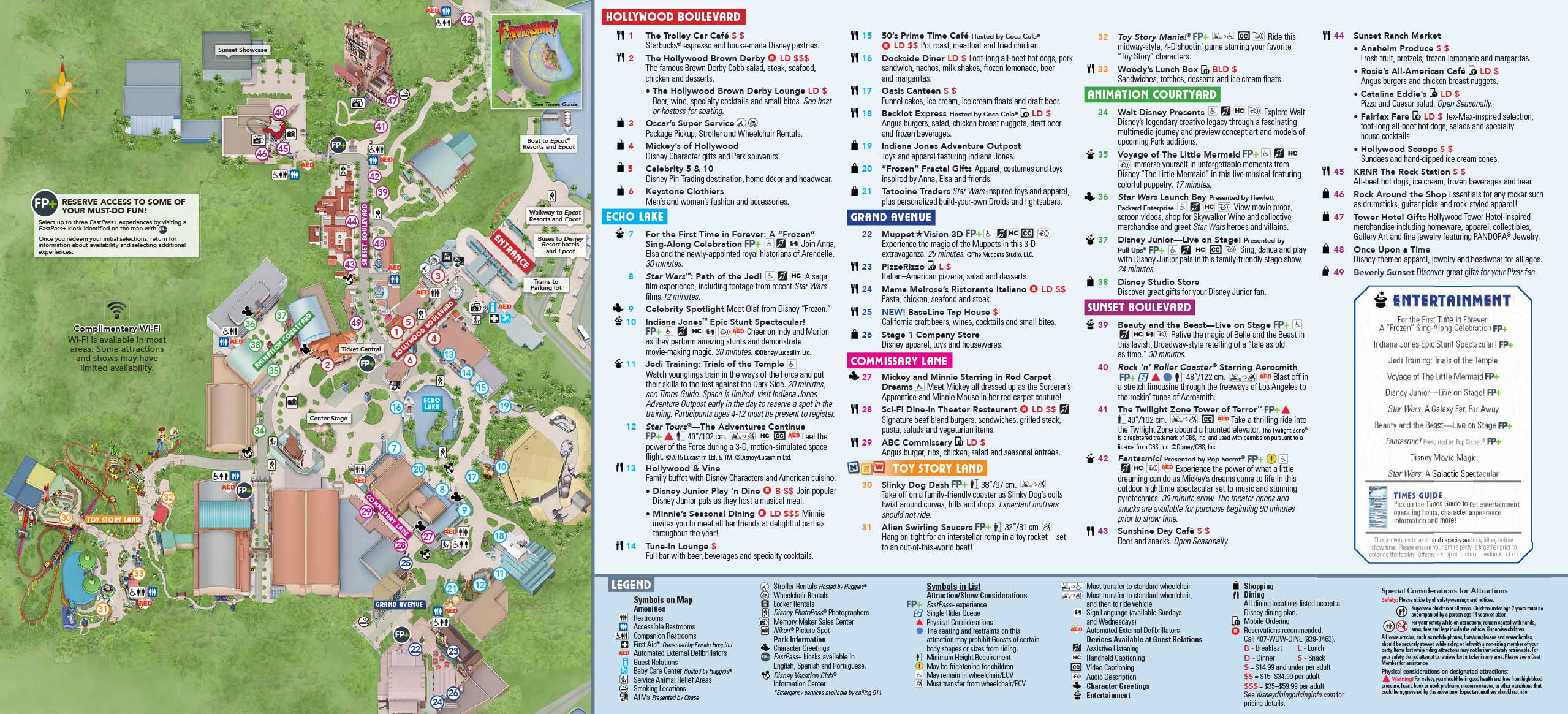 PHOTOS   New Guide Map for Disney's Hollywood Studios