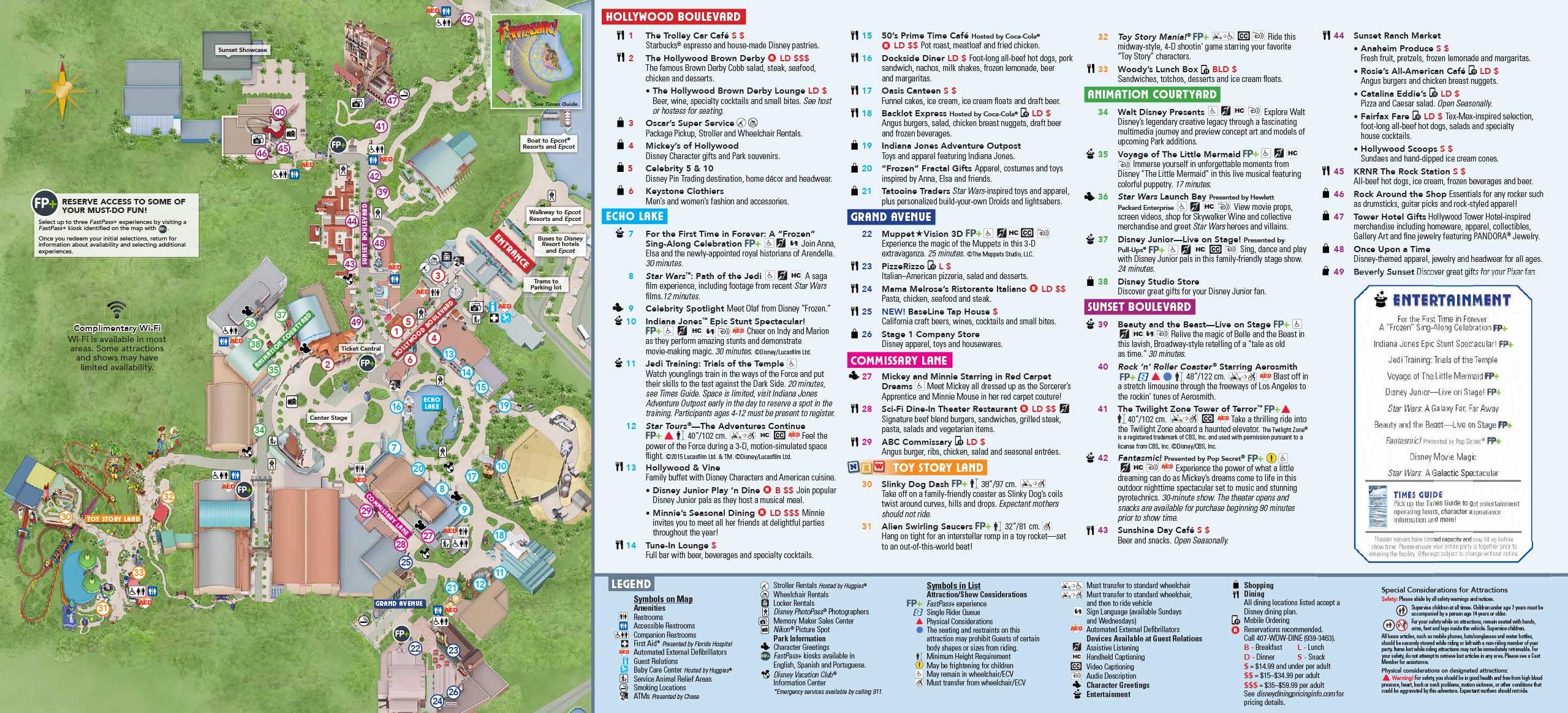 Disney World Map Hollywood Studios.Photos New Guide Map For Disney S Hollywood Studios