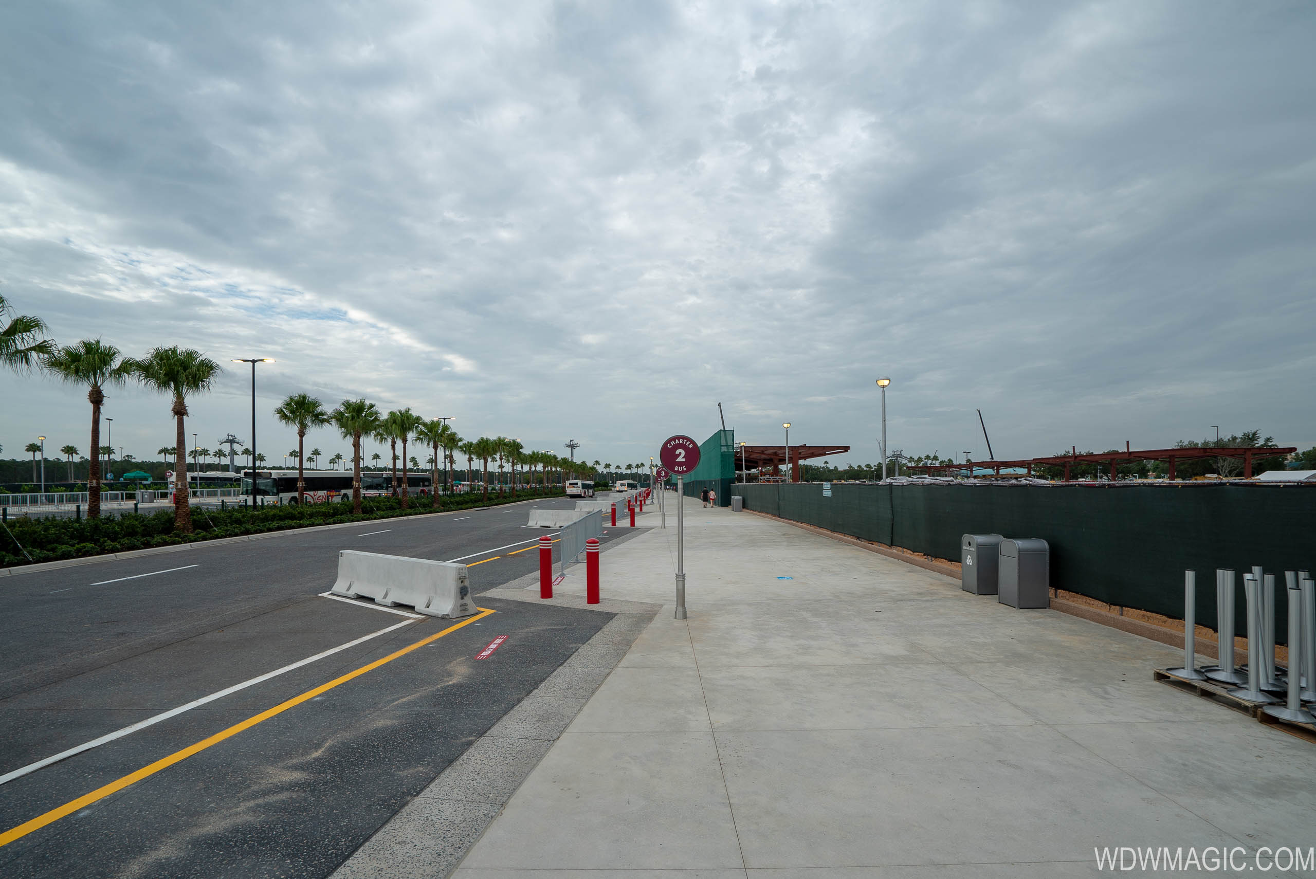 New Charter Bus stop area at Disney's Hollywood Studios