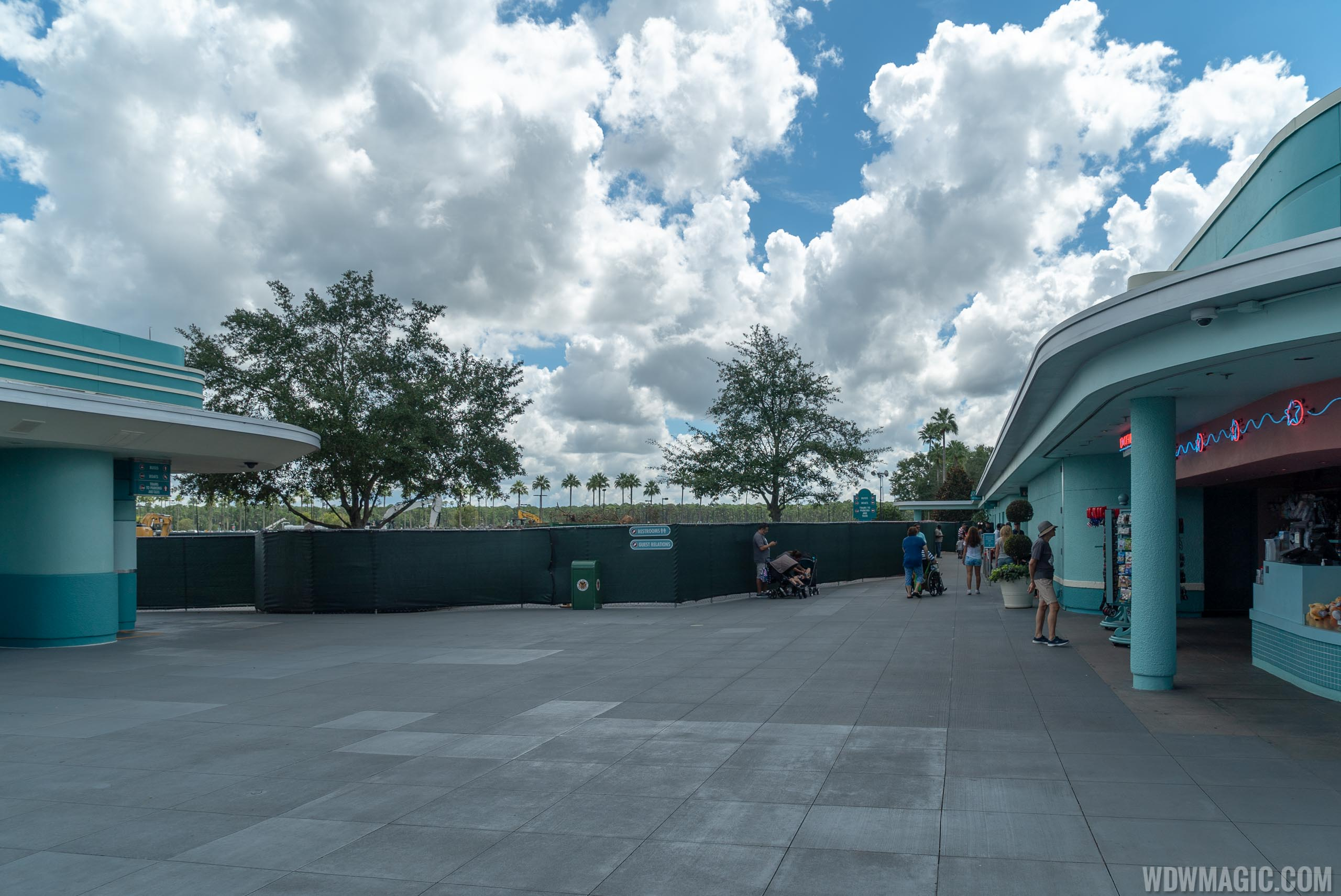 Disney's Hollywood Studios former bus stop demolition and main entrance work