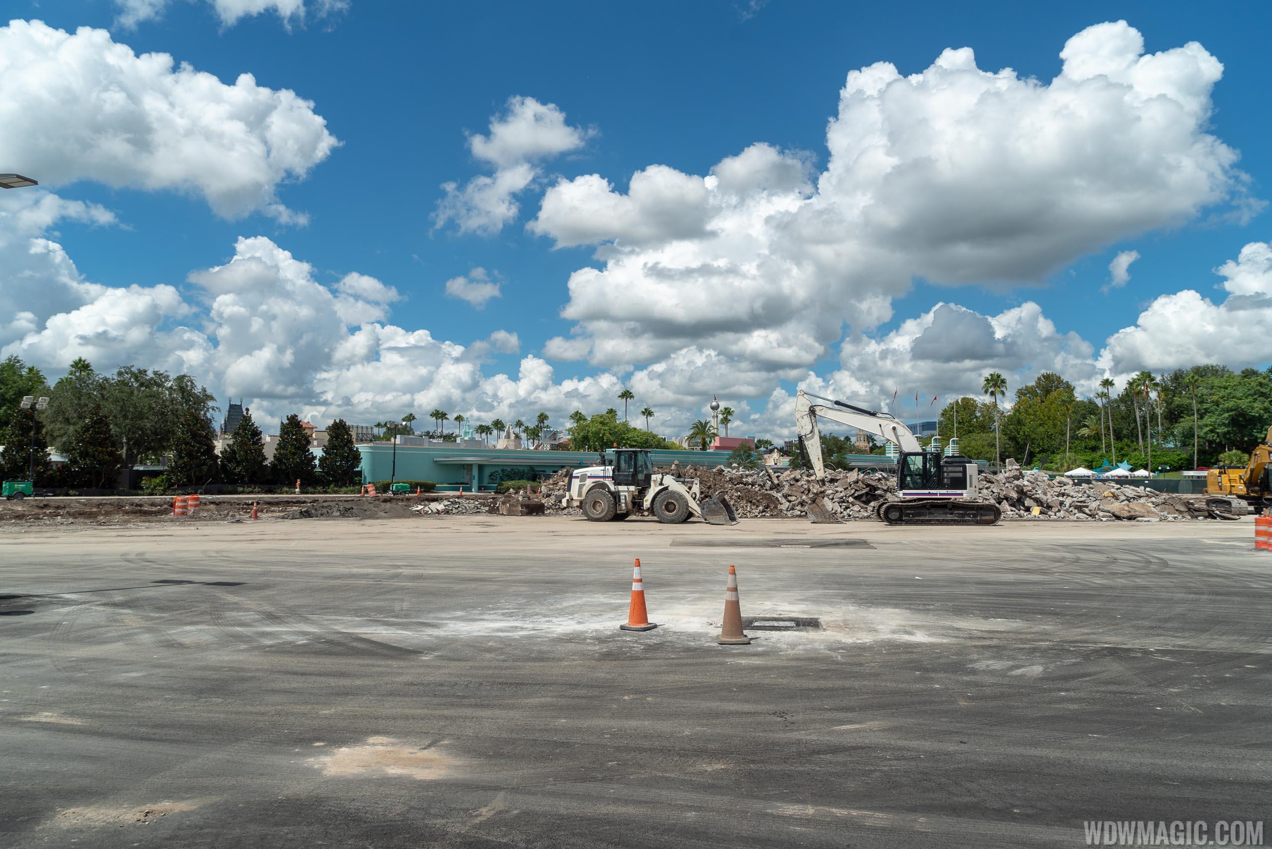 Disney's Hollywood Studios former bus stop demolition and main entrance work