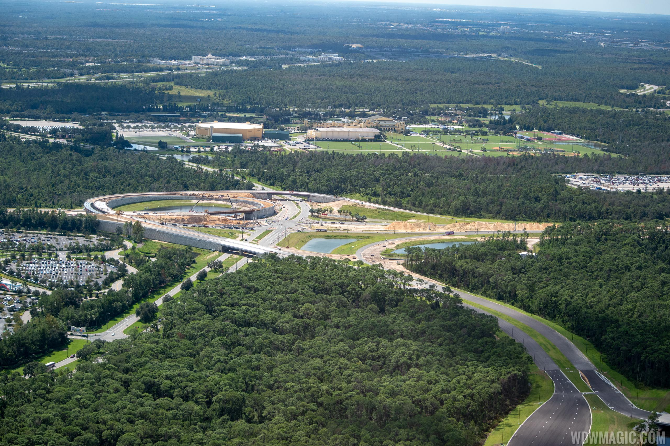 New Parking Plaza and entry road construction at Disney's Hollywood Studios