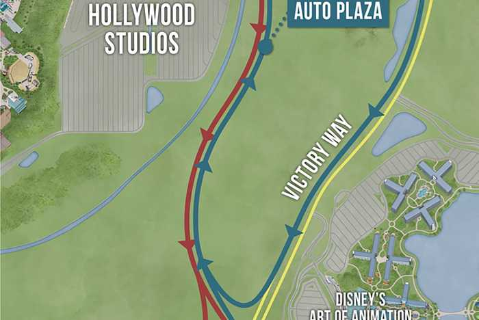 New Studios Auto Plaza map