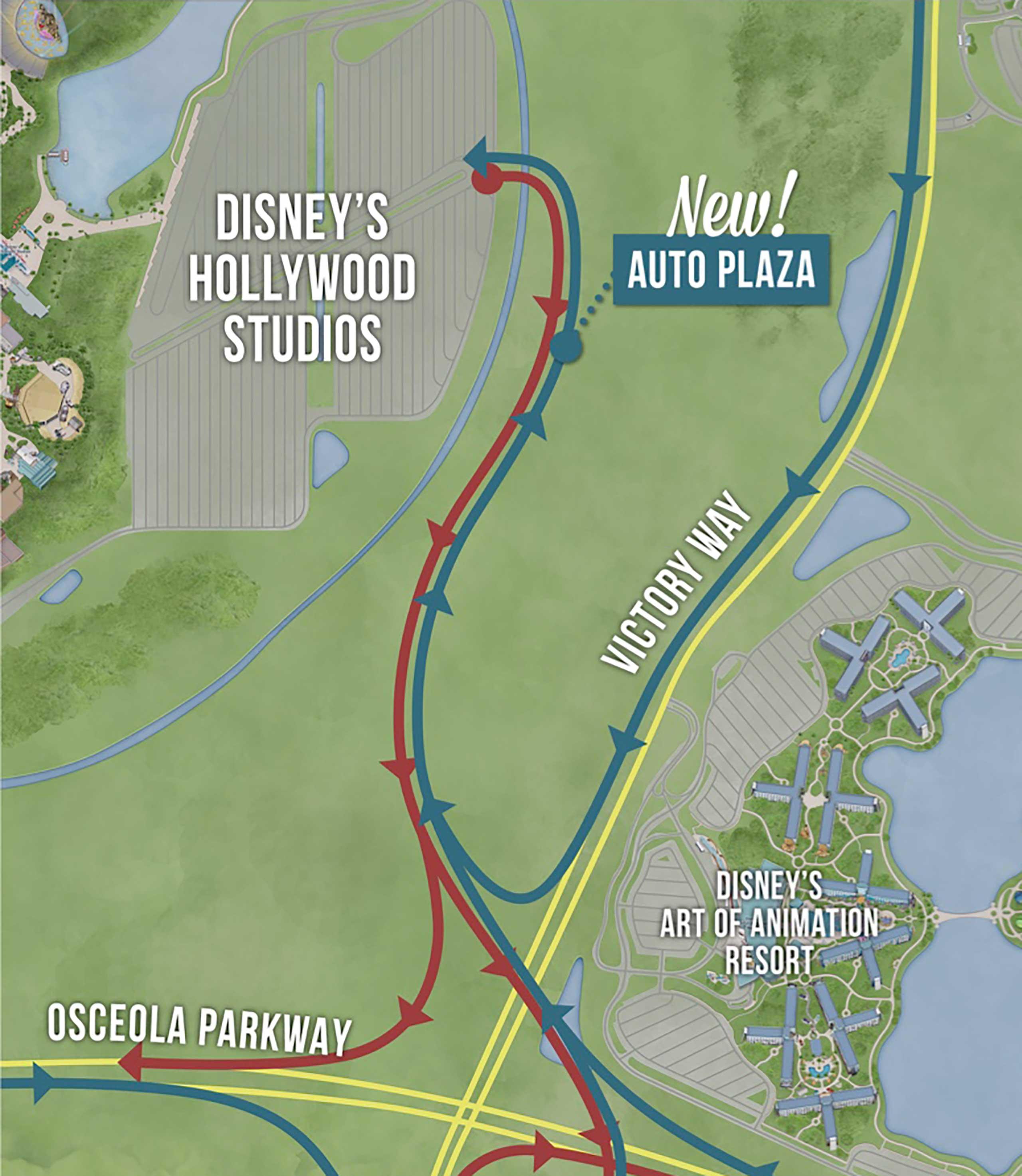 New Studios Auto Plaza map