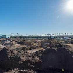 Disney's Hollywood Studios main entrance construction - November 2018