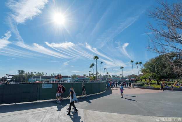 Disney's Hollywood Studios main entrance construction - January 2019