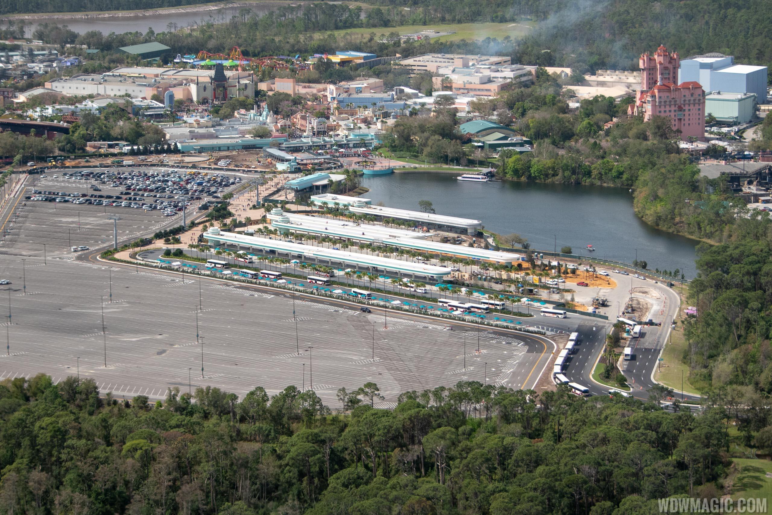 Disney's Hollywood Studios main entrance construction - February 2019