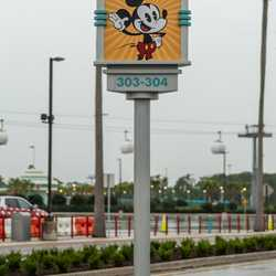 New parking lot character name signs