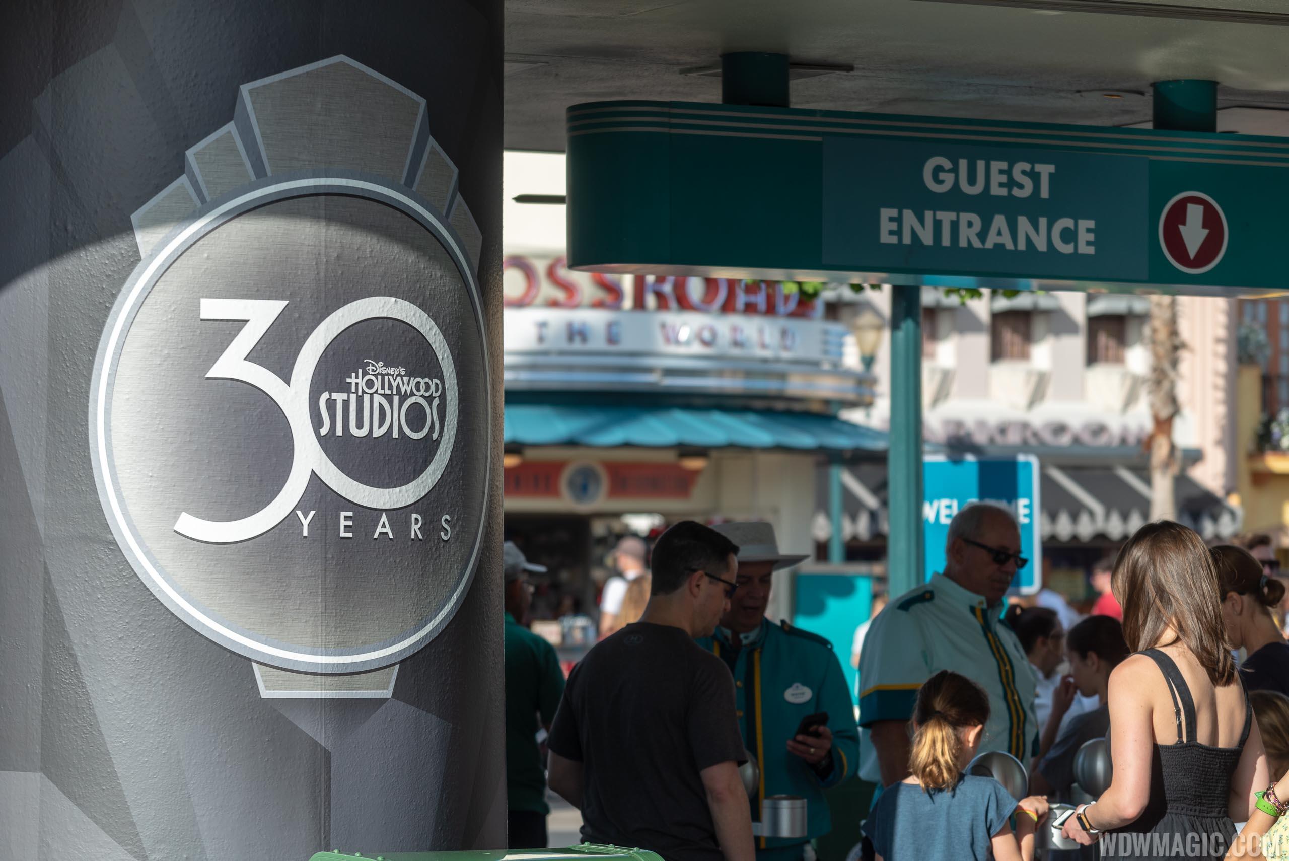 Disney's Hollywood Studios 30th Anniversary banners