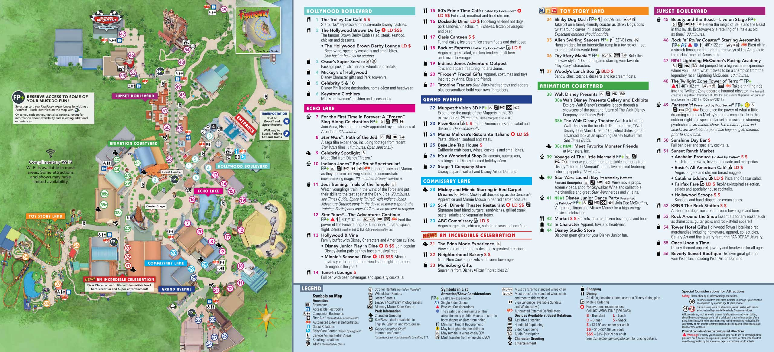 Photos New Guide Map For Disney S Hollywood Studios