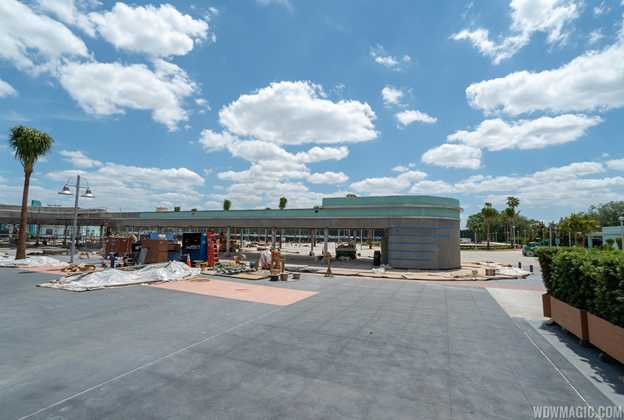 New tram loop and security screening area construction