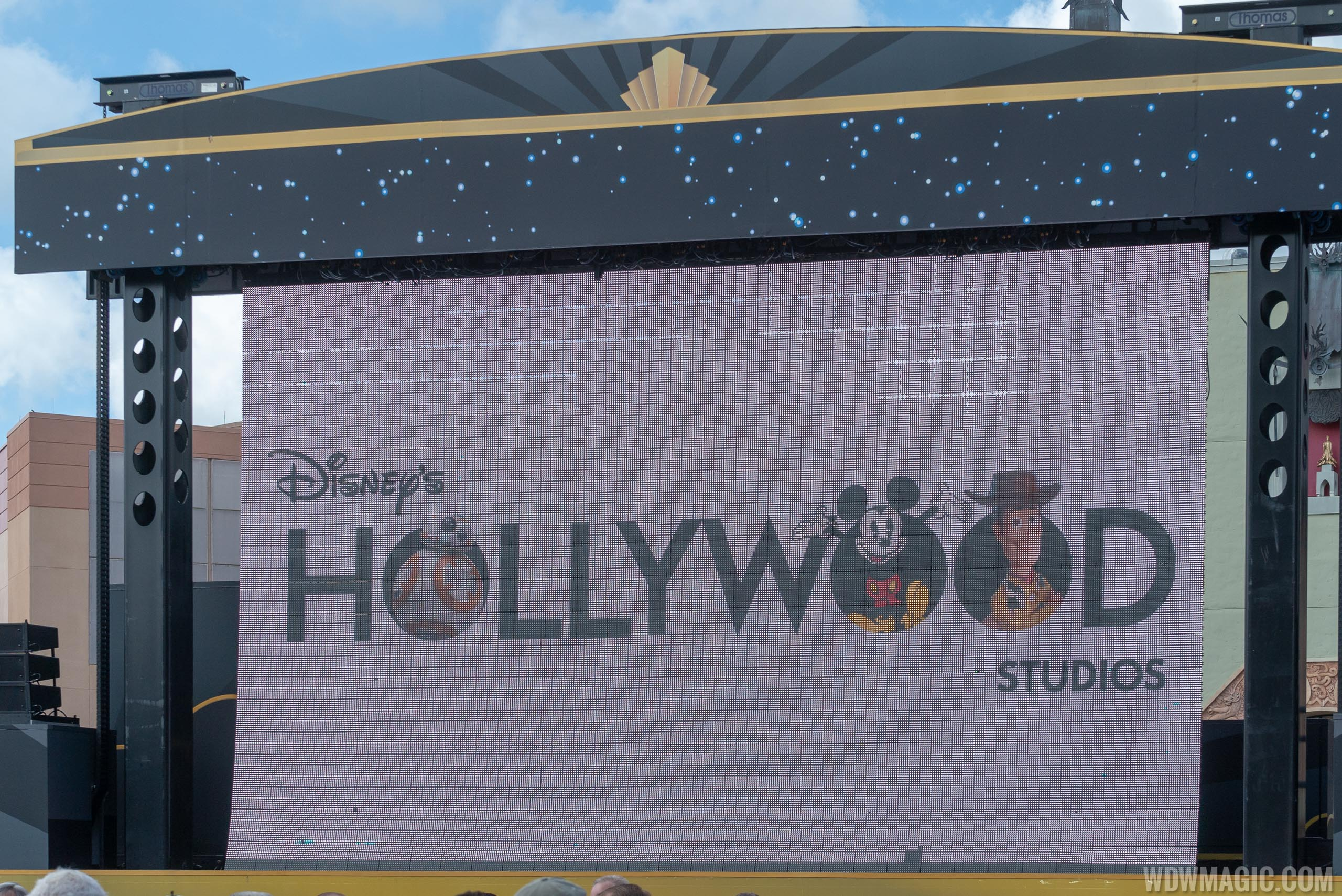 New logo for Disney's Hollywood Studios on-screen during the 30th anniversary moment today
