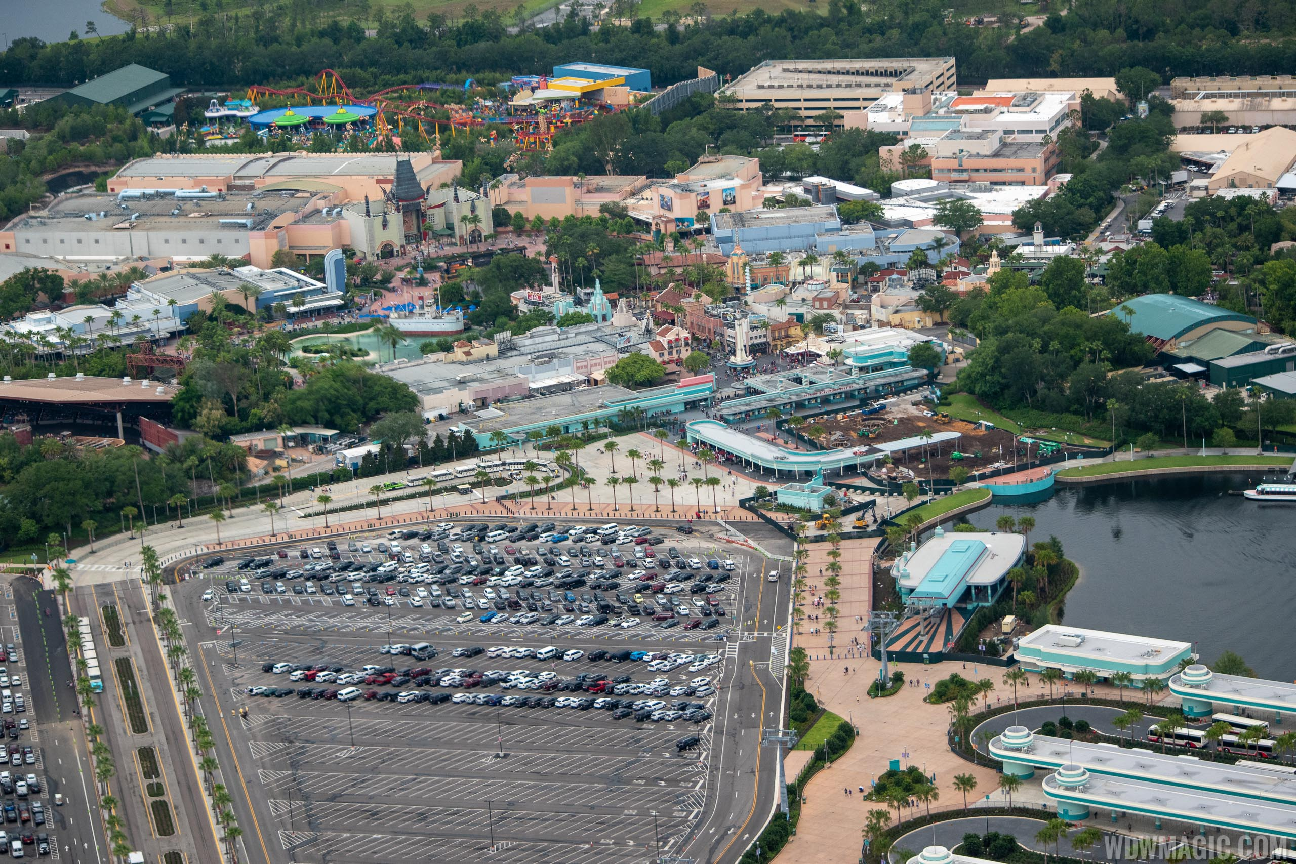 Main entrance construction from the air - June 2019