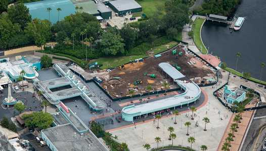 PHOTOS - Aerial view of the new Disney's Hollywood Studios entrance area under construction