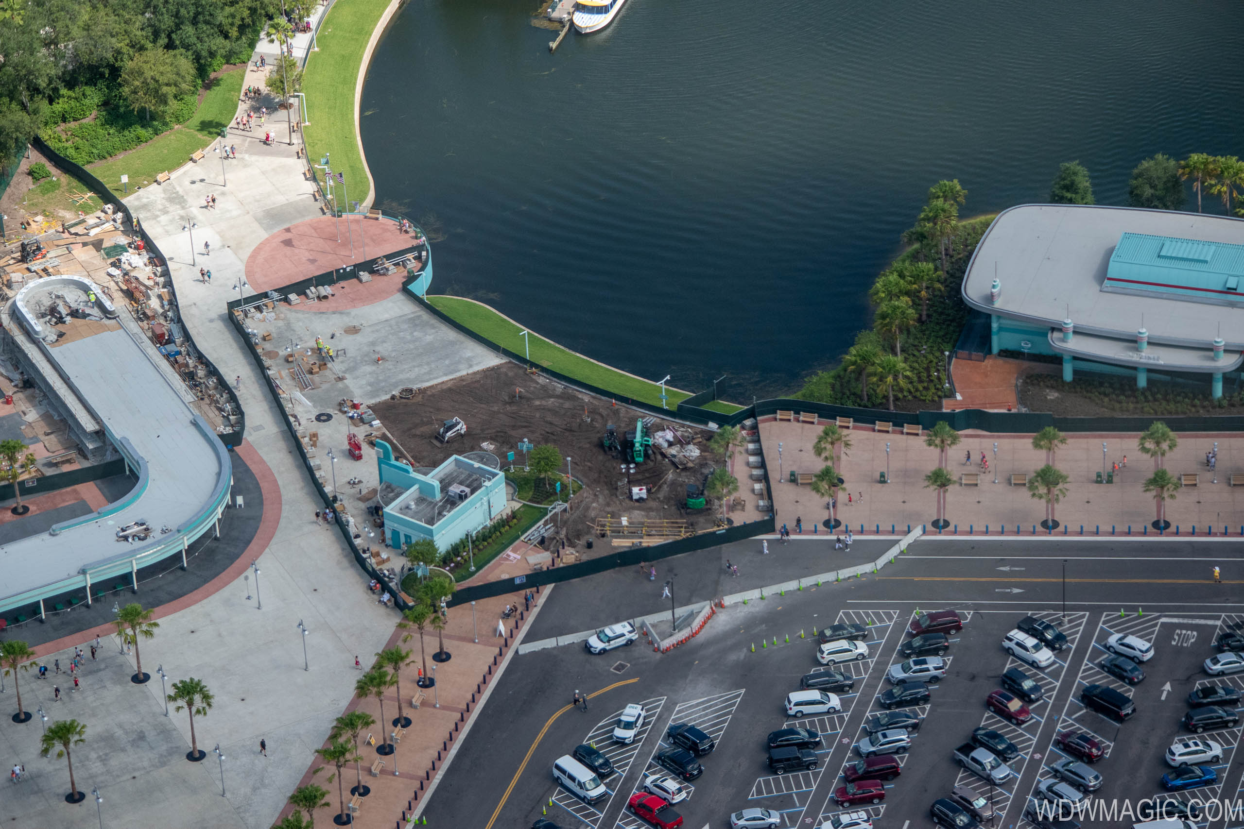 Disney's Hollywood Studios main entrance construction from the air - July 2019