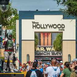PHOTOS - Disney's Hollywood Studios archway with new logo