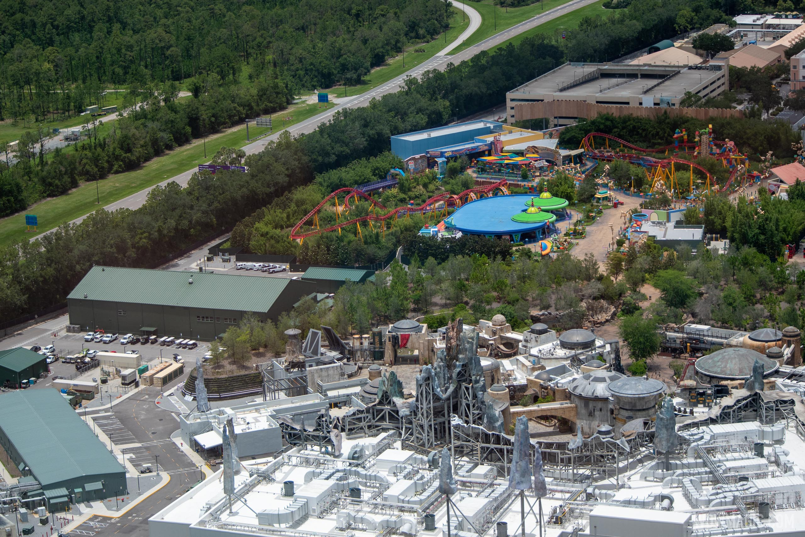 Aerial view of Disney's Hollywood Studios during COVID-019 closure