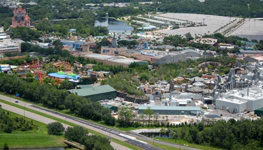 PHOTOS - Aerial views of an empty Disney's Hollywood Studios ahead of this week's reopening