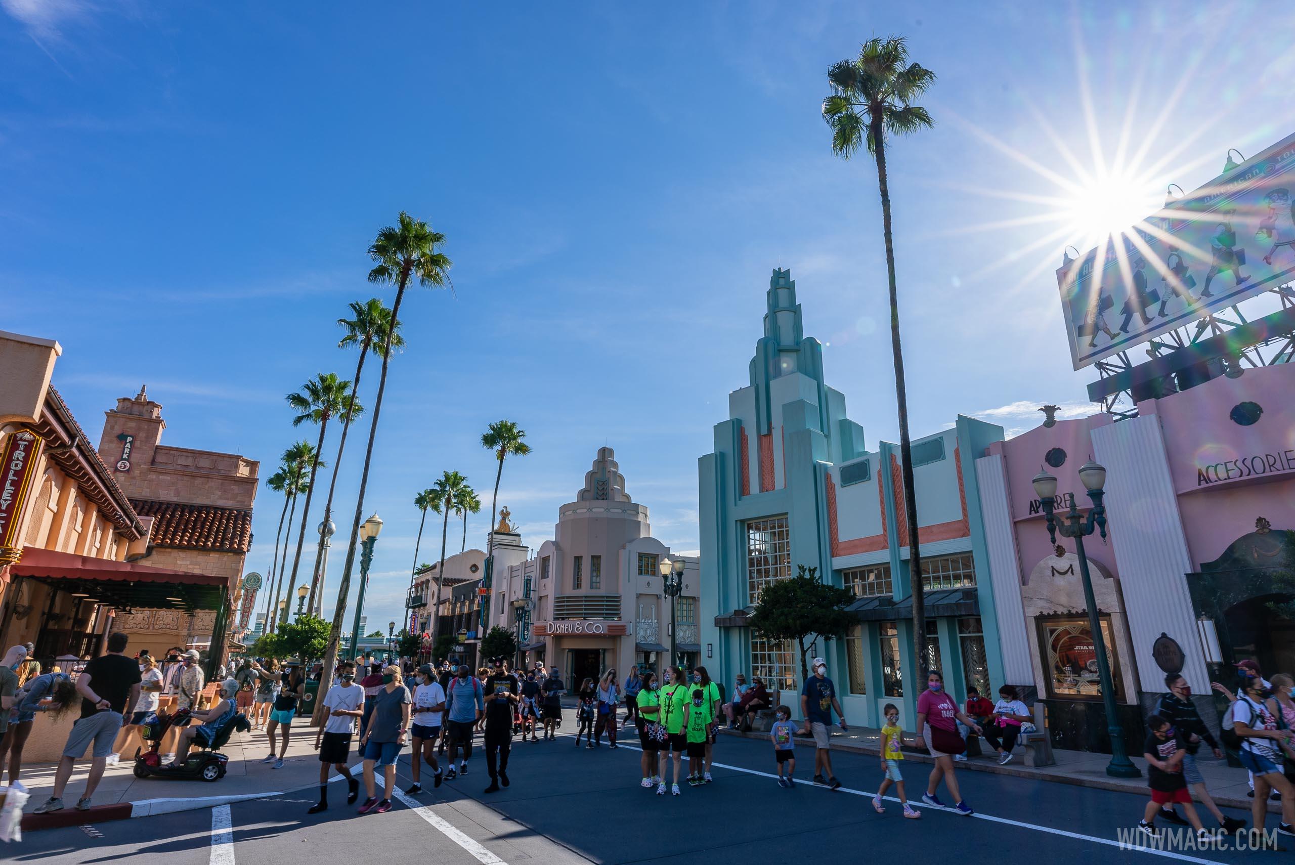 Guests on Hollywood Blvd at Disney's Hollywood Studios