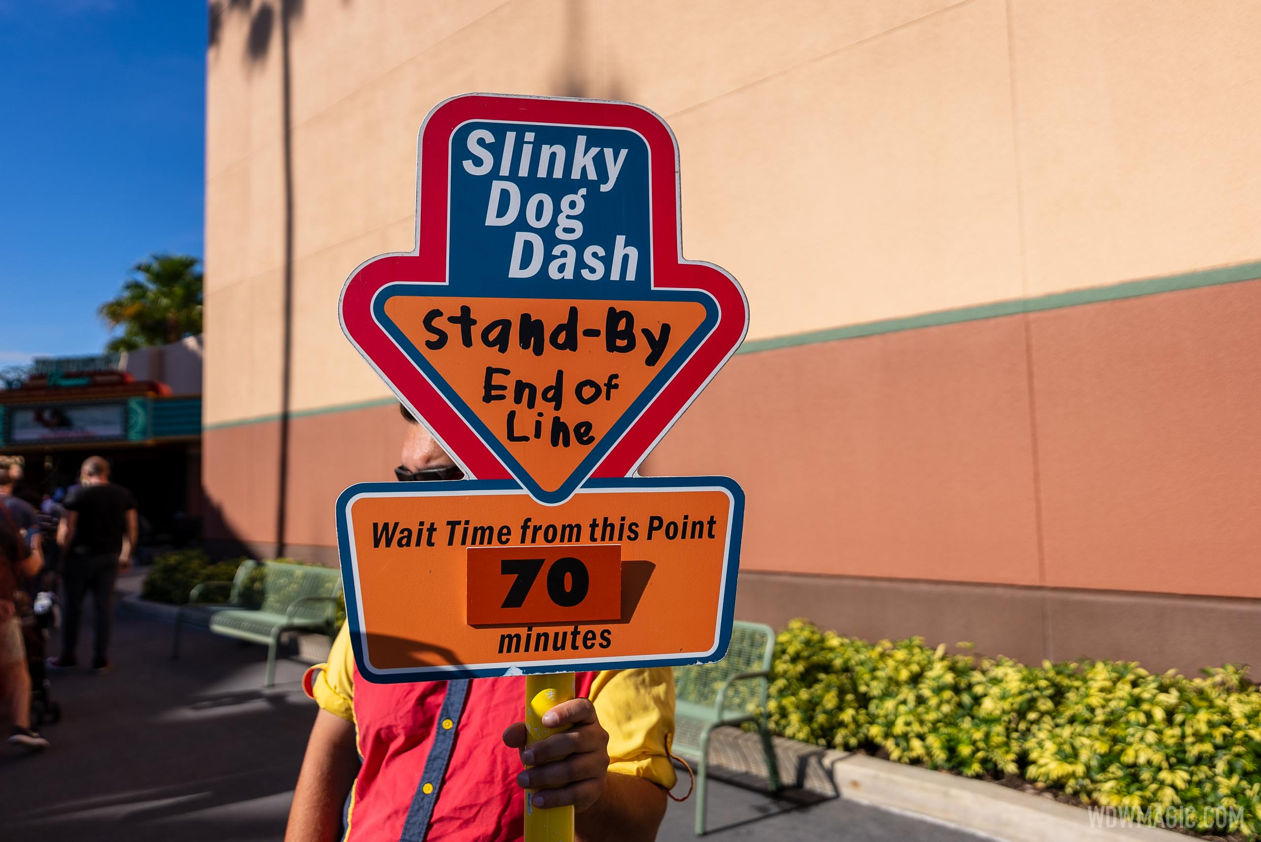 The line for Slinky Dog Dash is beginning outside of Toy Story Land on most days