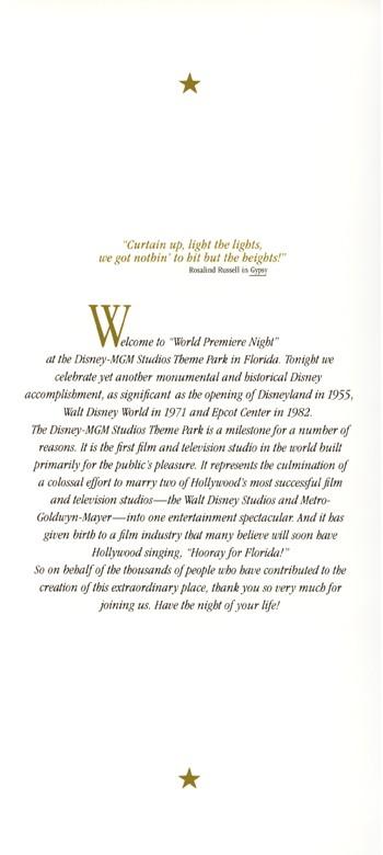 World Premiere Night Brochure