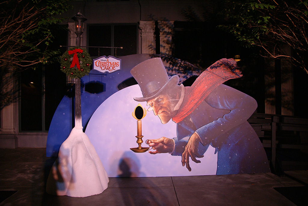 A Christmas Carol photo op at Disney's Hollywood Studios