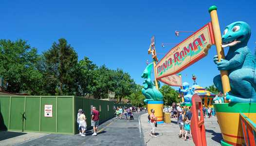 PHOTOS - Construction walls up in DinoLand U.S.A. for Donald's Dino Bash!
