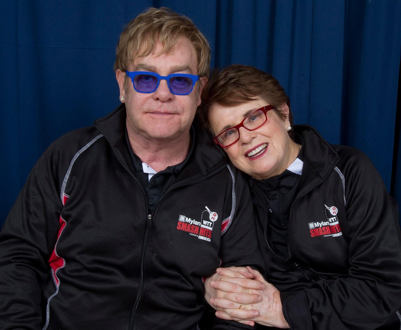 Sir Elton John and Billie Jean King