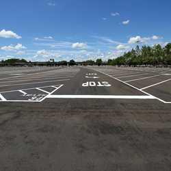 Parking lot refurbishment