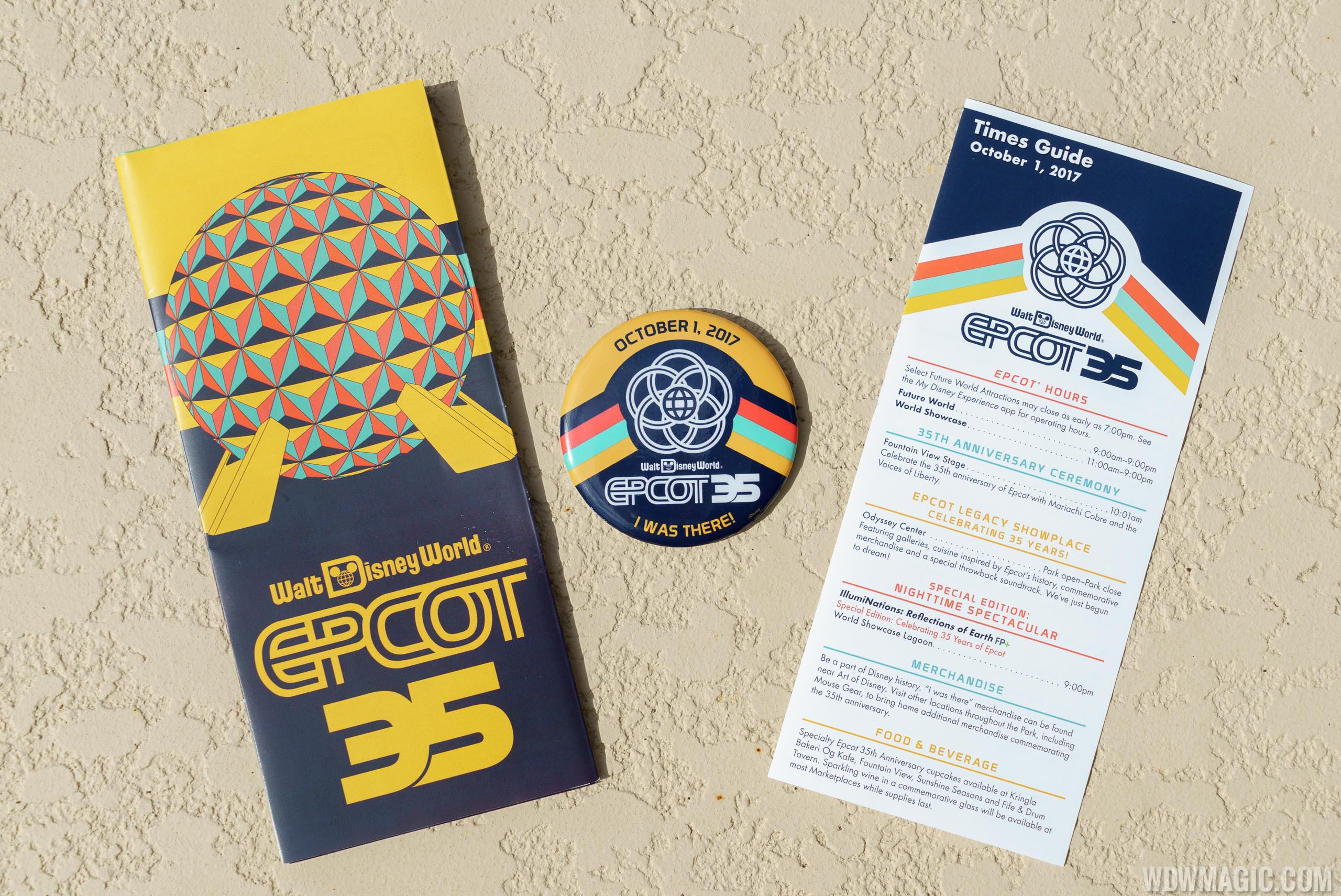 Epcot 35 Guide Map and Button