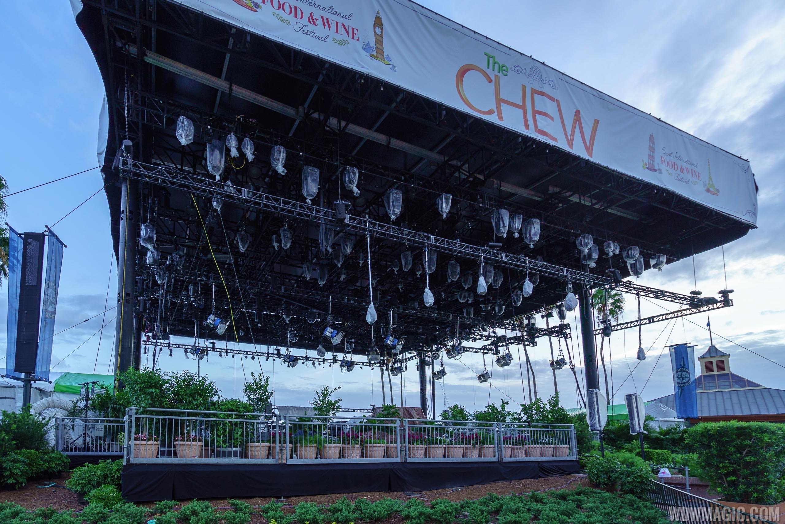 World Showcase Plaza stage