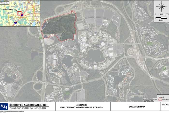 Exploratory Geotechnical Borings for Epcot NW Pond