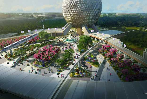 Concept art of Epcot's new Park Entrance