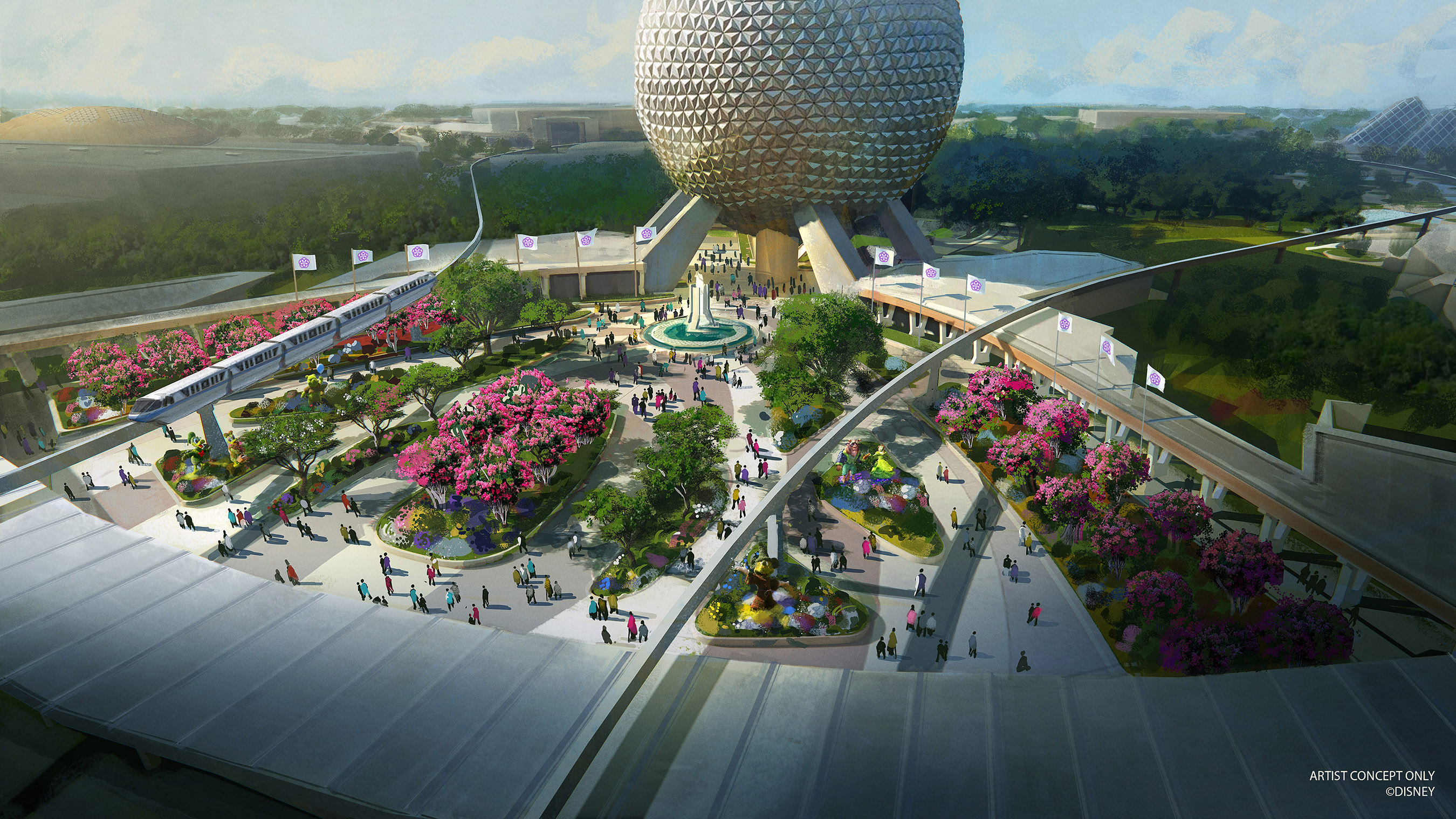 Concept art of Epcot's new entrance