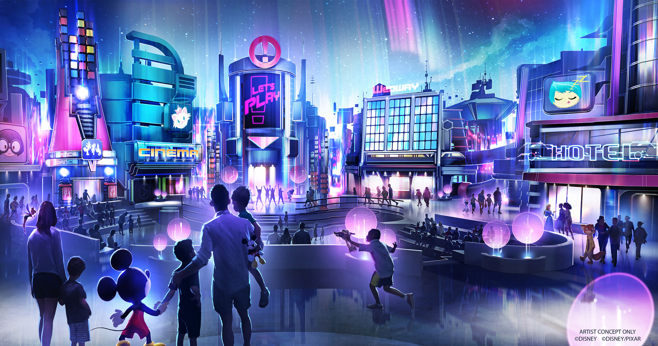 Concept art of Epcot's new Play Pavilion