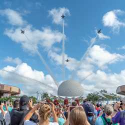 Blue Angels flyover of Epcot