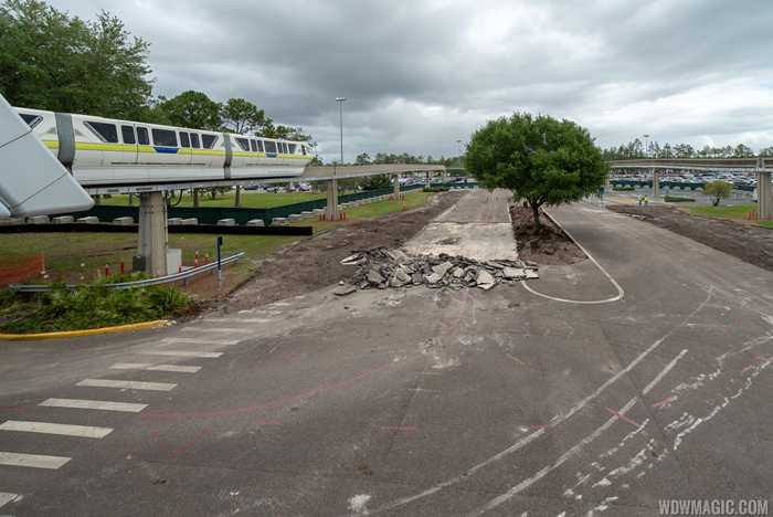 Epcot arrival area refurbishment - May 2019